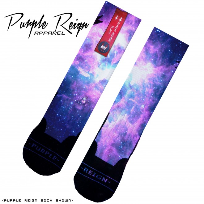 "Nike Elite Socks Purple Nike Elite ""galaxy"" Socks"