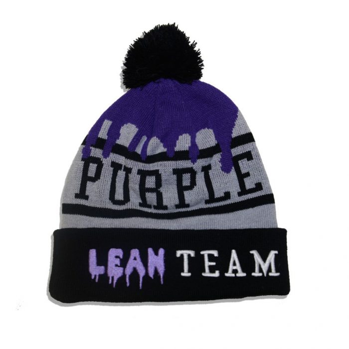 """5ed9996fc """"Lean Team"""" Pom Pom Beanie"""