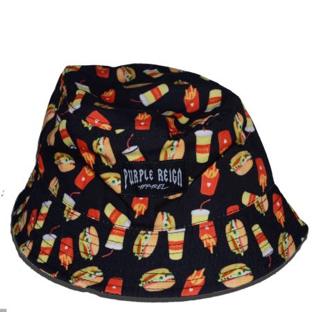 burger-black-purple-reign-bucket-hat
